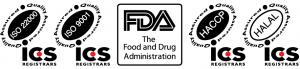 FDA, HALAL, ISO, HACCP